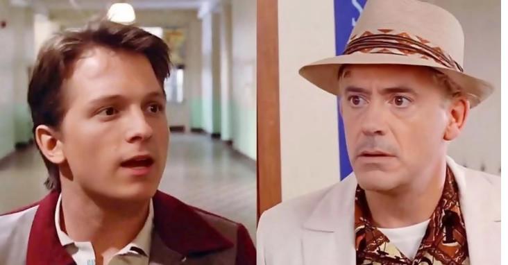 Tom Holland quiere rehacer Regreso al futuro con Robert Downey Jr pero ...