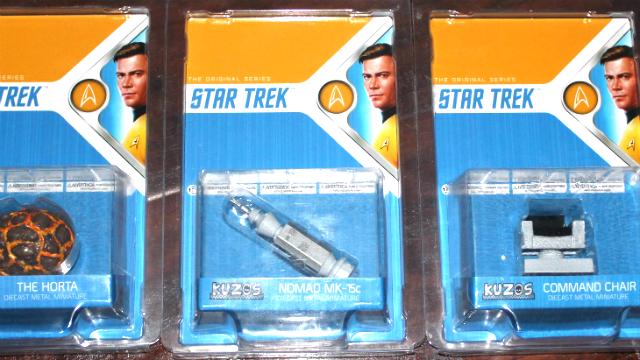 Revisión: Star Trek La serie original Minis de metal fundido a presión de Kuzos