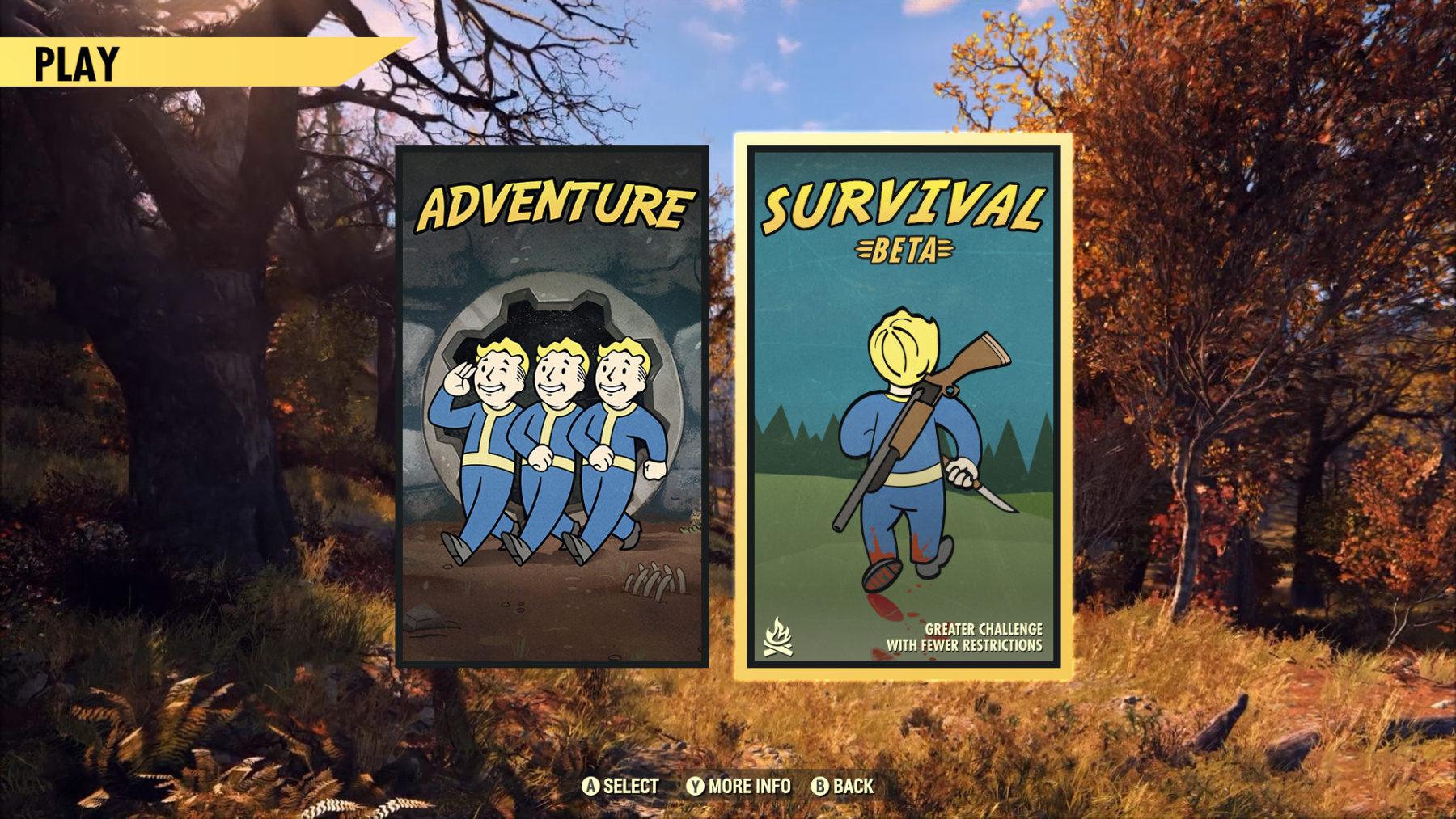 Fallout 76 Survival Beta ya está aquí