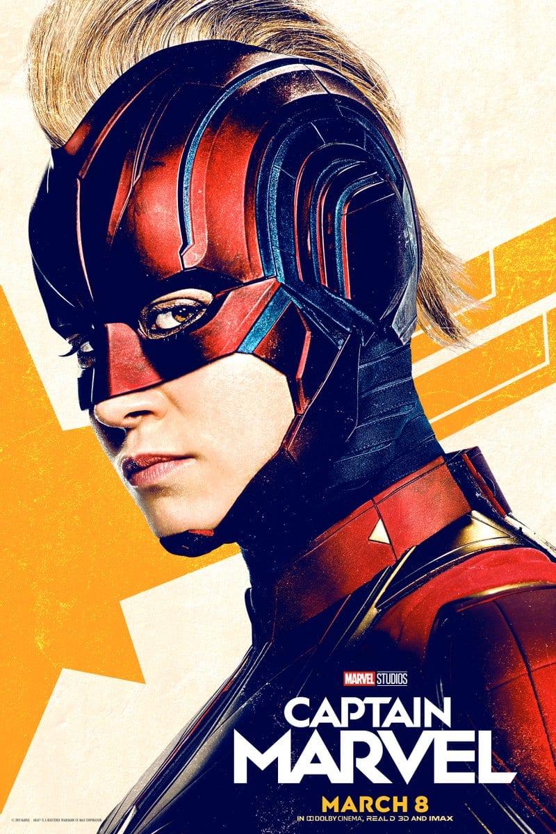El Capitán Marvel recibe dos nuevos pósters con Carol Danvers de Brie Larson