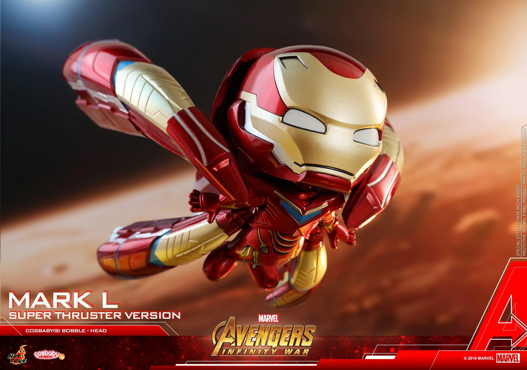 Los Vengadores de Hot Toys: Infinity War Iron Man Mark L Cosbaby revelado