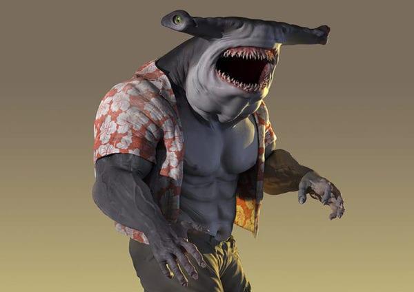 King Shark aparece en el arte conceptual de Suicide Squad no utilizado