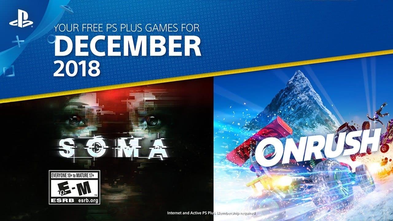 Juegos de PlayStation Plus de diciembre de 2018 anunciados