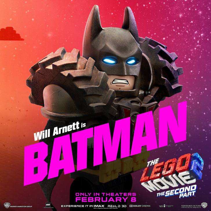 The LEGO Movie 2: The Second Part recibe siete pósters de personajes