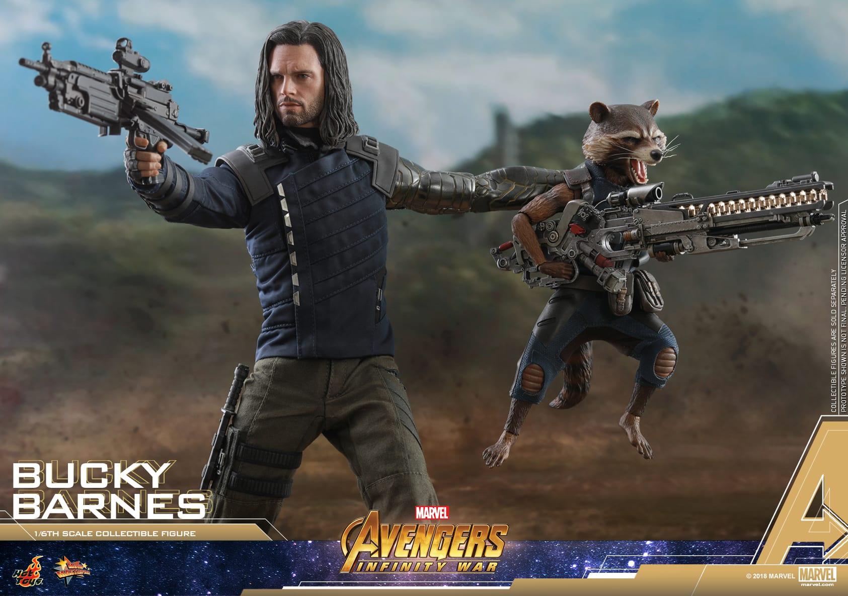 Bucky Barnes obtiene una figura de la serie Masterpiece de la película Avengers: Infinity War de Hot Toys