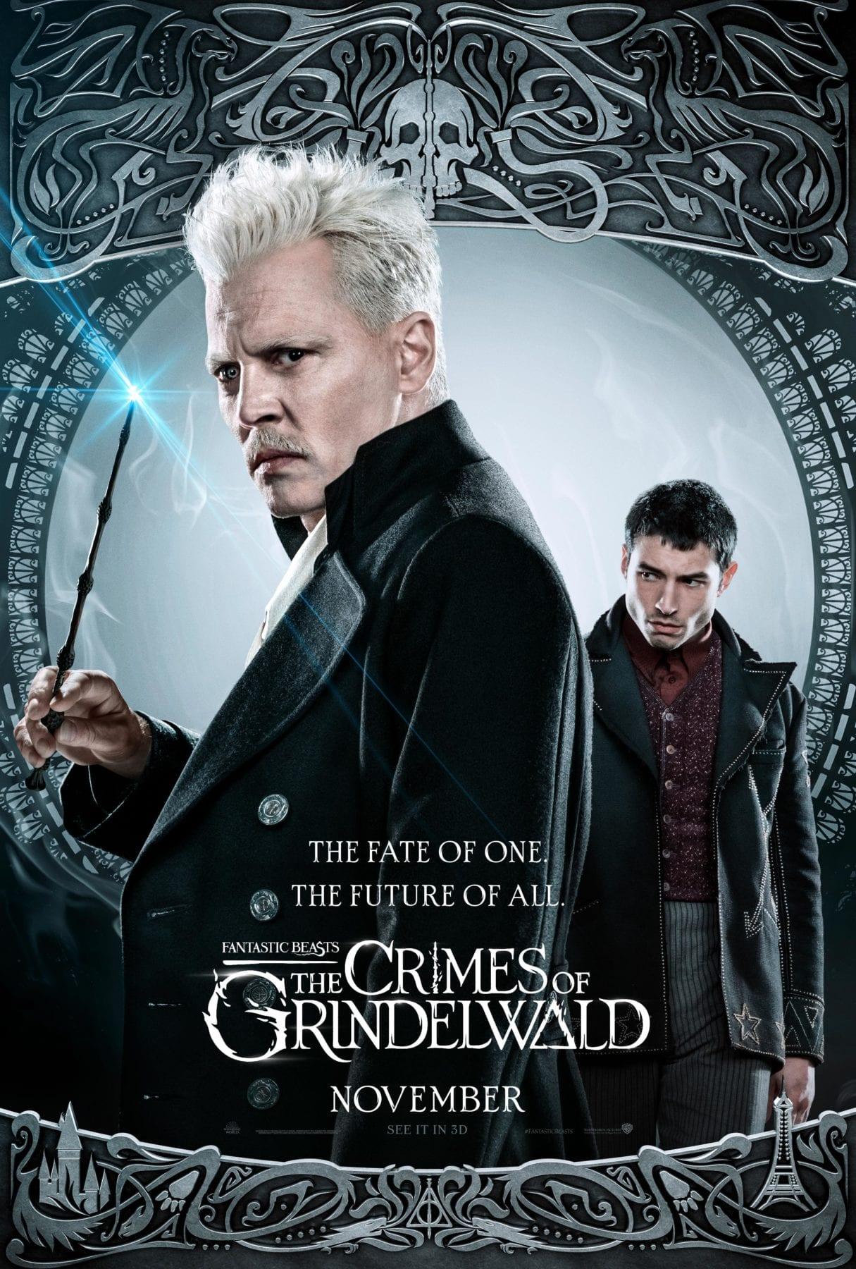 Animales fantásticos: los crímenes de Grindelwald recibe cinco nuevos pósters de personajes