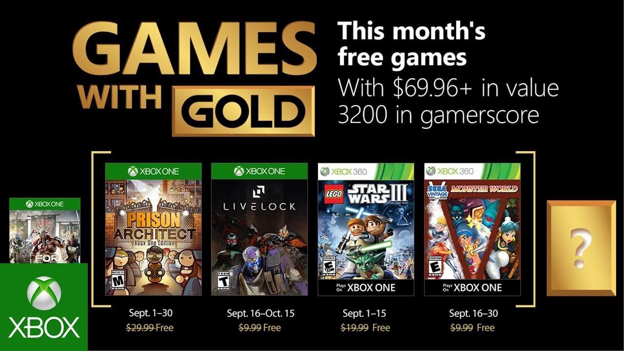 Se revelan los juegos de Xbox con oro de septiembre