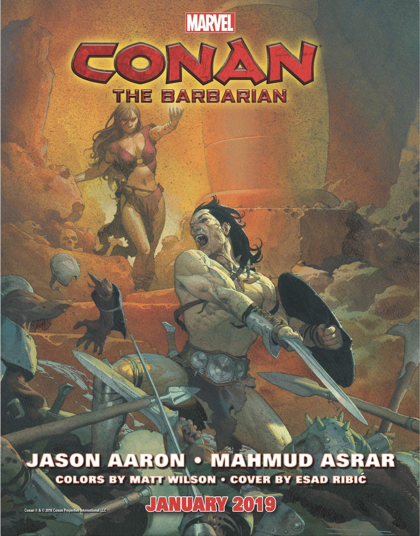Marvel anuncia el equipo creativo de Conan el Bárbaro