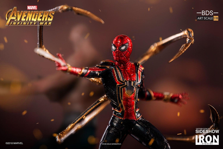 The Iron Spider se une a la serie Avengers: Infinity War Battle Diorama de Iron Studios