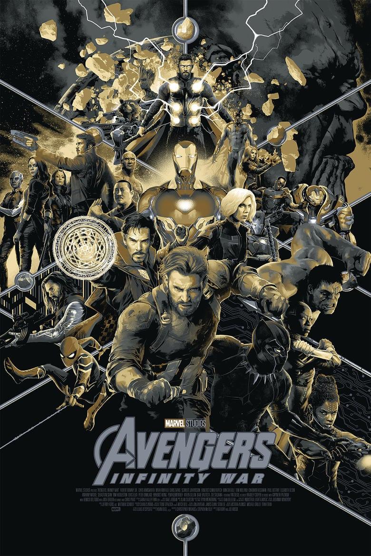 Mondo presenta su póster de Avengers: Infinity War antes de la Comic-Con