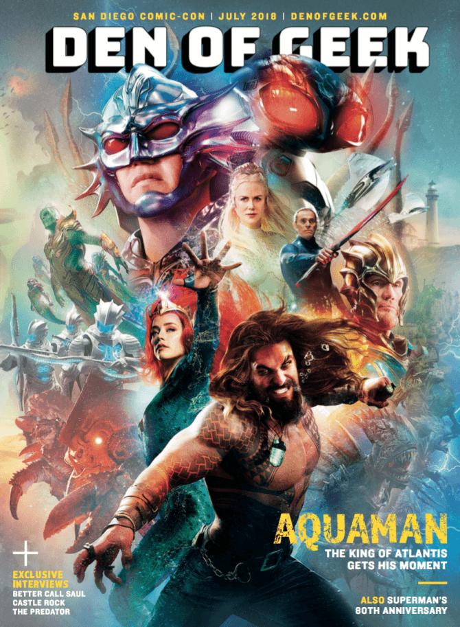 ¡Aquaman y Shazam de DC!  portadas de la revista grace antes de la Comic-Con