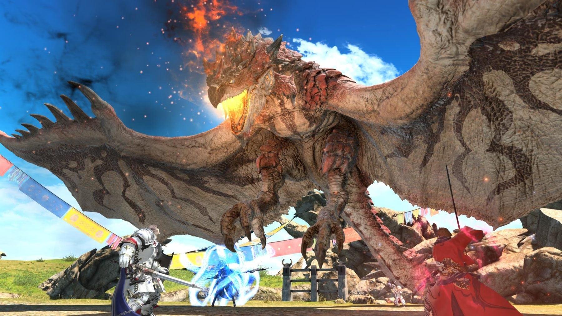Final Fantasy XIV Online y Monster Hunter: World se unen en agosto para una cacería importante