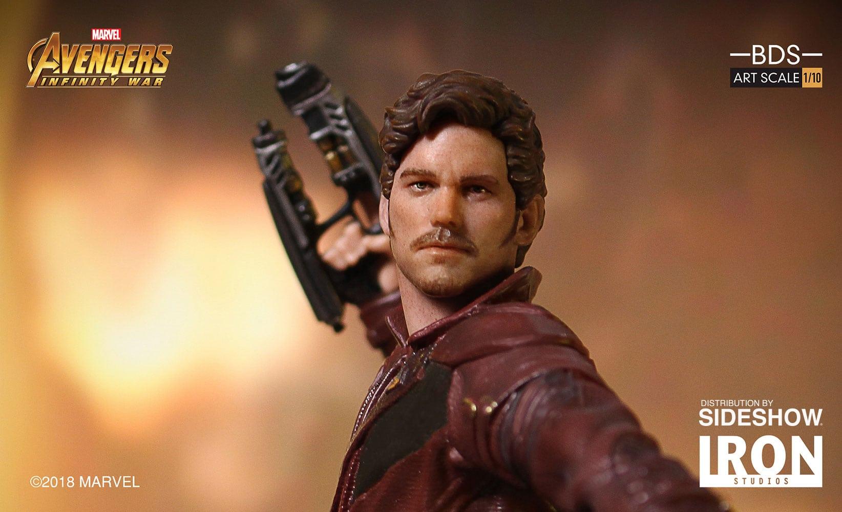 Star-Lord Avengers: Infinity War Battle Diorama estatua revelada por Iron Studios