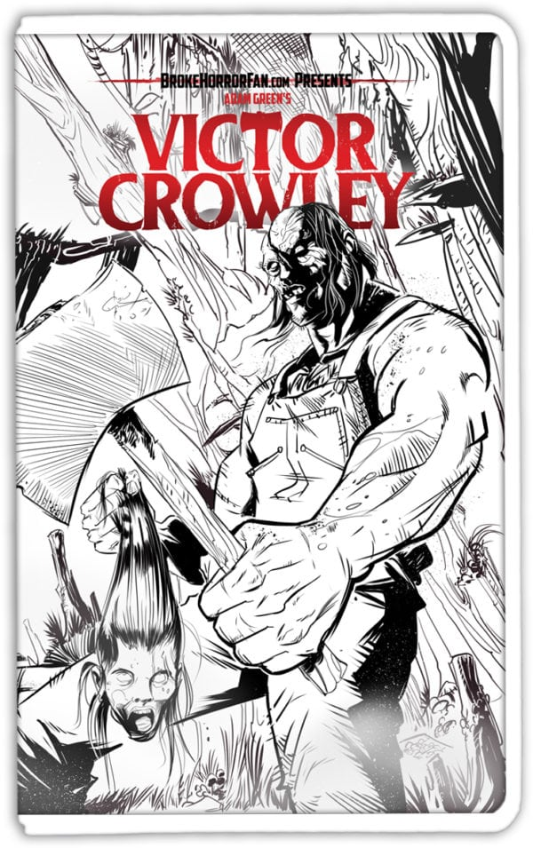 VictorCrowley-VHS3-lineart-600x955