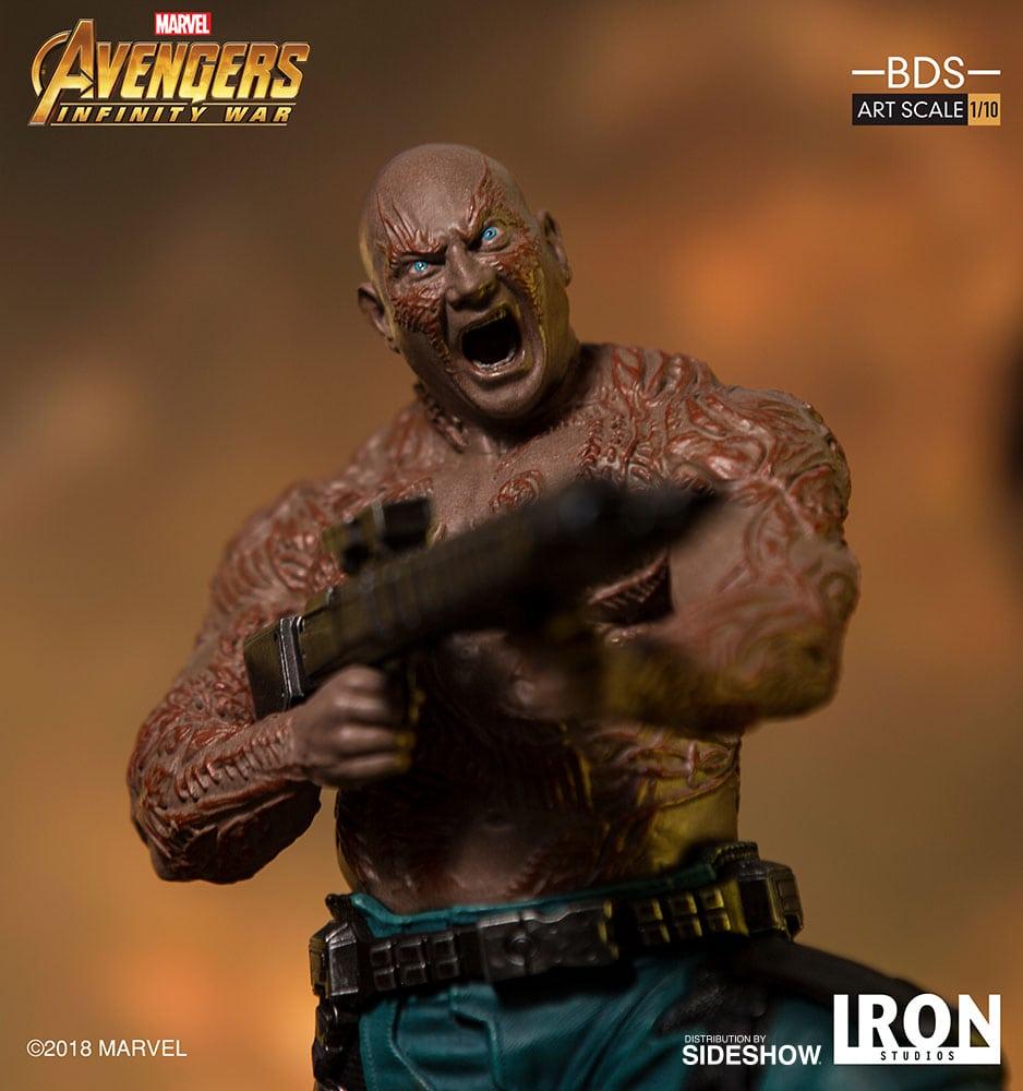Se revela la estatua de Drax the Destroyer Avengers: Infinity War Battle Diorama Series de Iron Studios