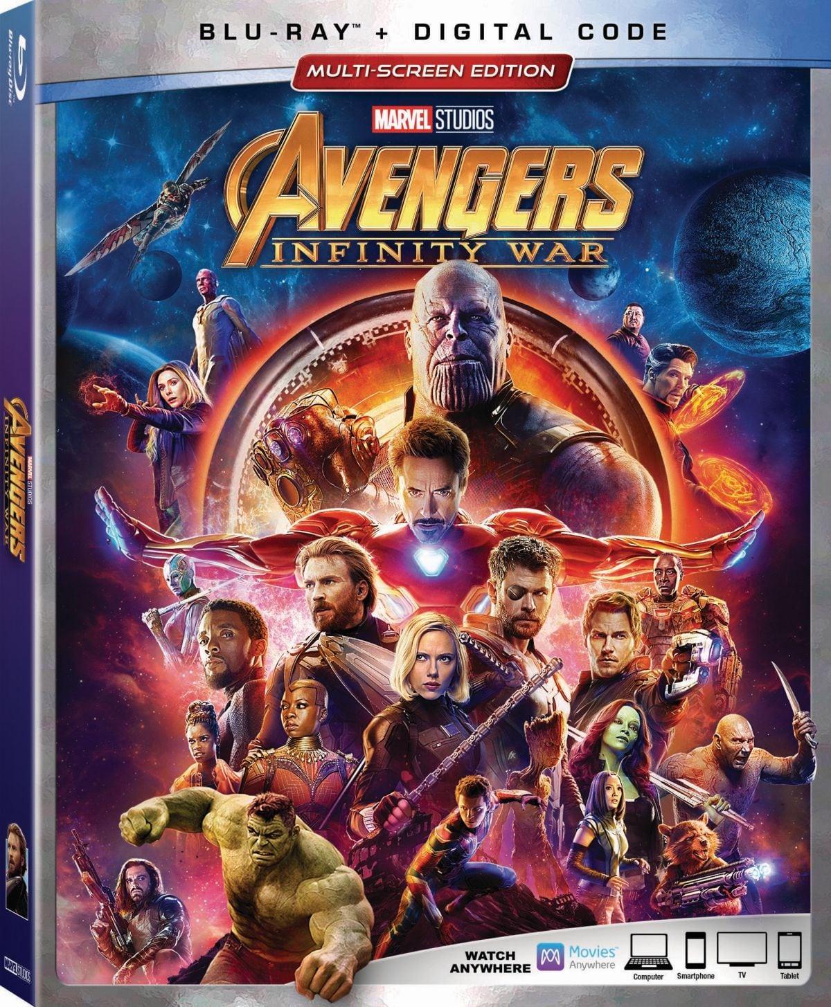 Las características especiales de Avengers: Infinity War se detallan cuando Blu-ray tiene fecha de lanzamiento en agosto