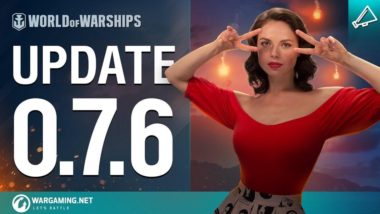 La actualización 0.7.6 de World of Warships llega este jueves