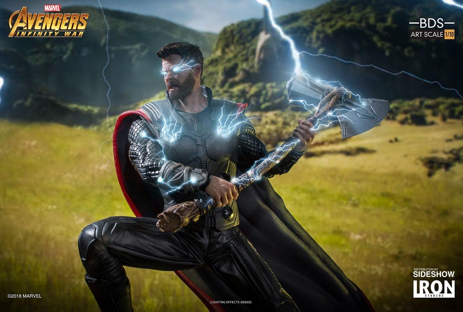 Thor obtiene una estatua de Avengers: Infinity War Battle Diorama Series de Iron Studios