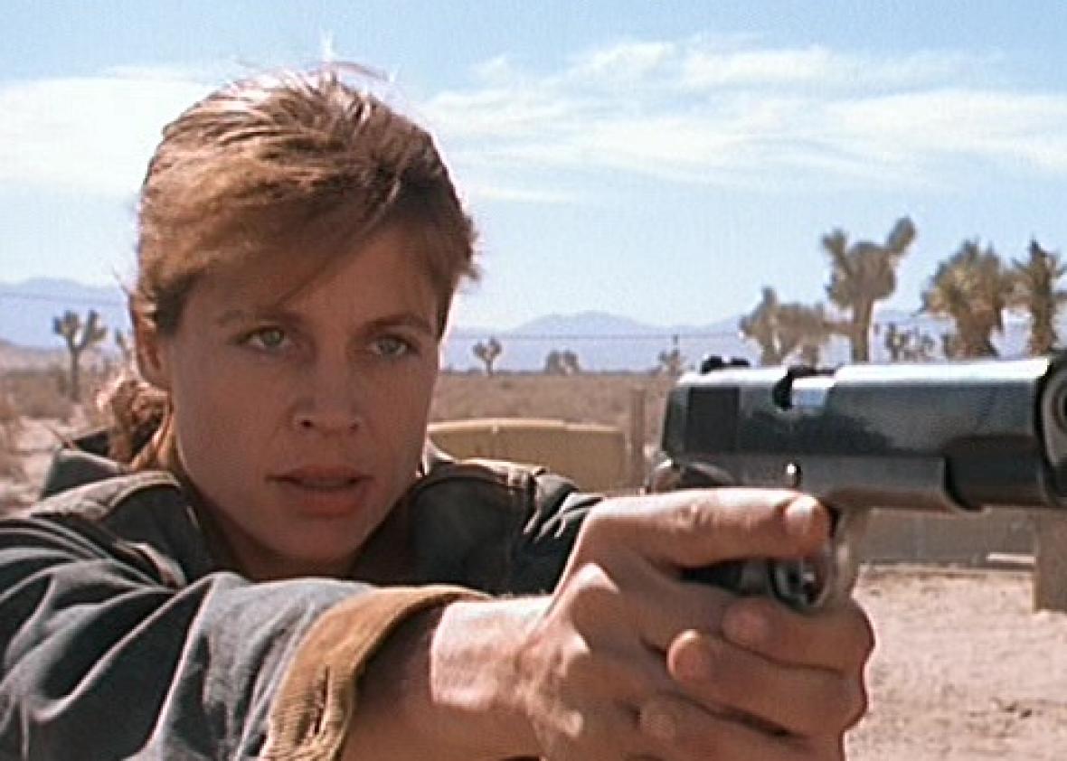 La foto de Terminator detrás de escena muestra por primera vez a Linda Hamilton que regresa