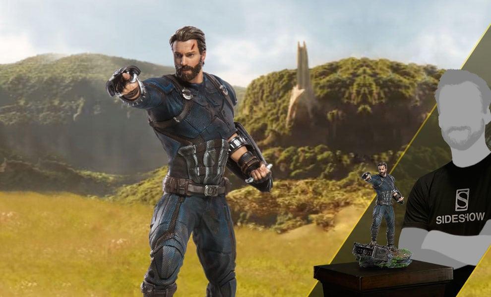 Avengers de Iron Studios: Infinity War Battle Diorama Series Capitán América disponible para pre-pedido