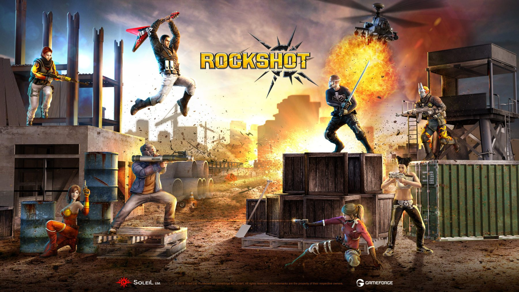 El shooter en tercera persona RockShot llega a Steam Early Access