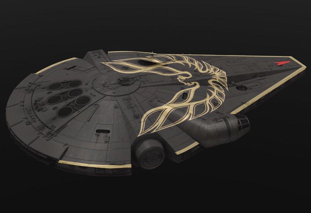 Solo: un arte conceptual de Star Wars Story presenta diseños alternativos de Halcón Milenario