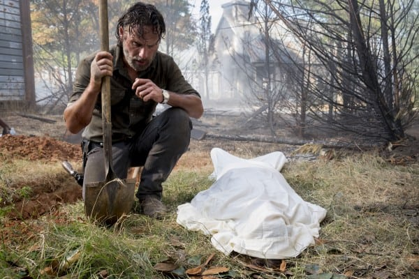 Andrew Lincoln saliendo de The Walking Dead en la temporada 9