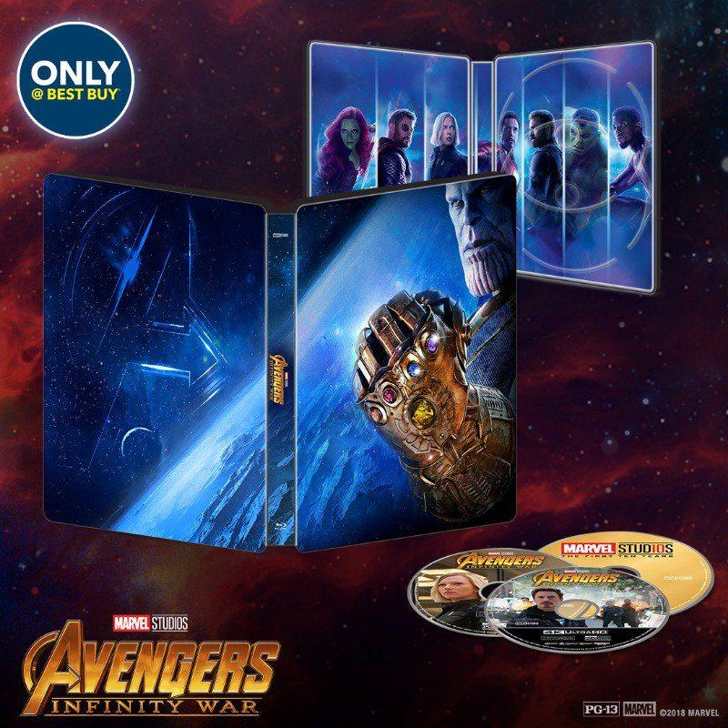 Se revelan las fechas de lanzamiento de Avengers: Infinity War para entretenimiento en el hogar