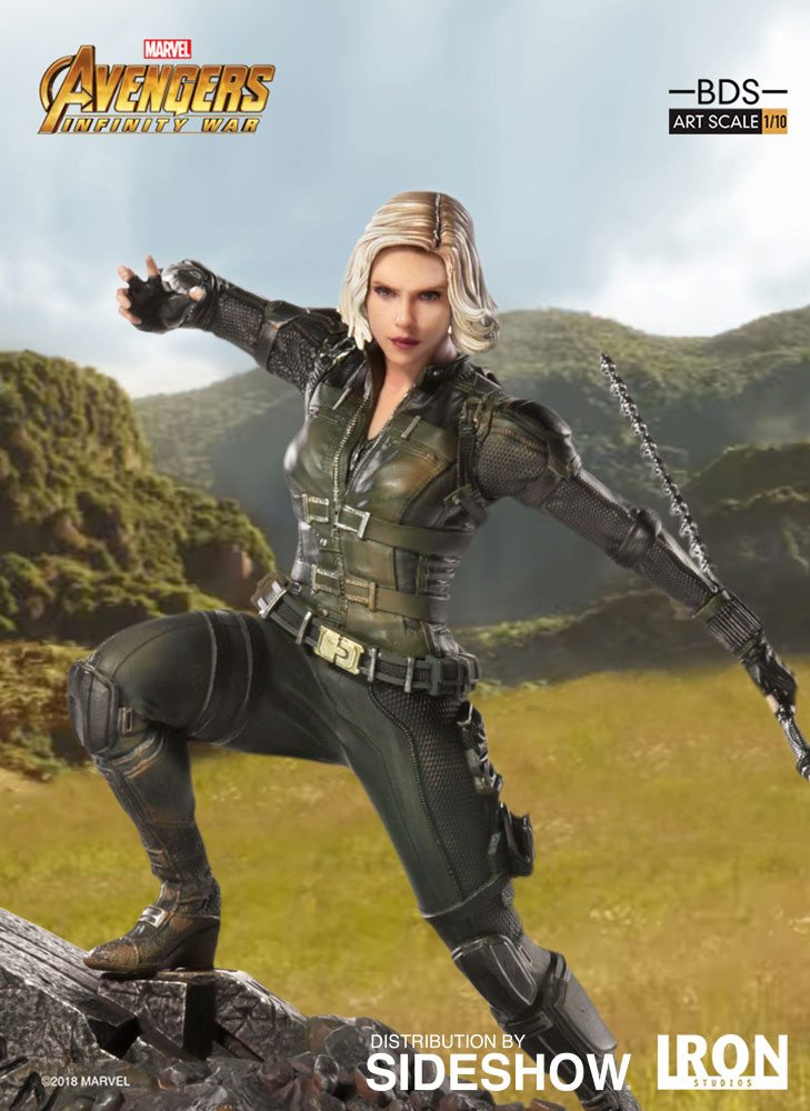 Avengers de Iron Studios: se revela la estatua de la serie Diorama de batalla de la Viuda Negra de Infinity War