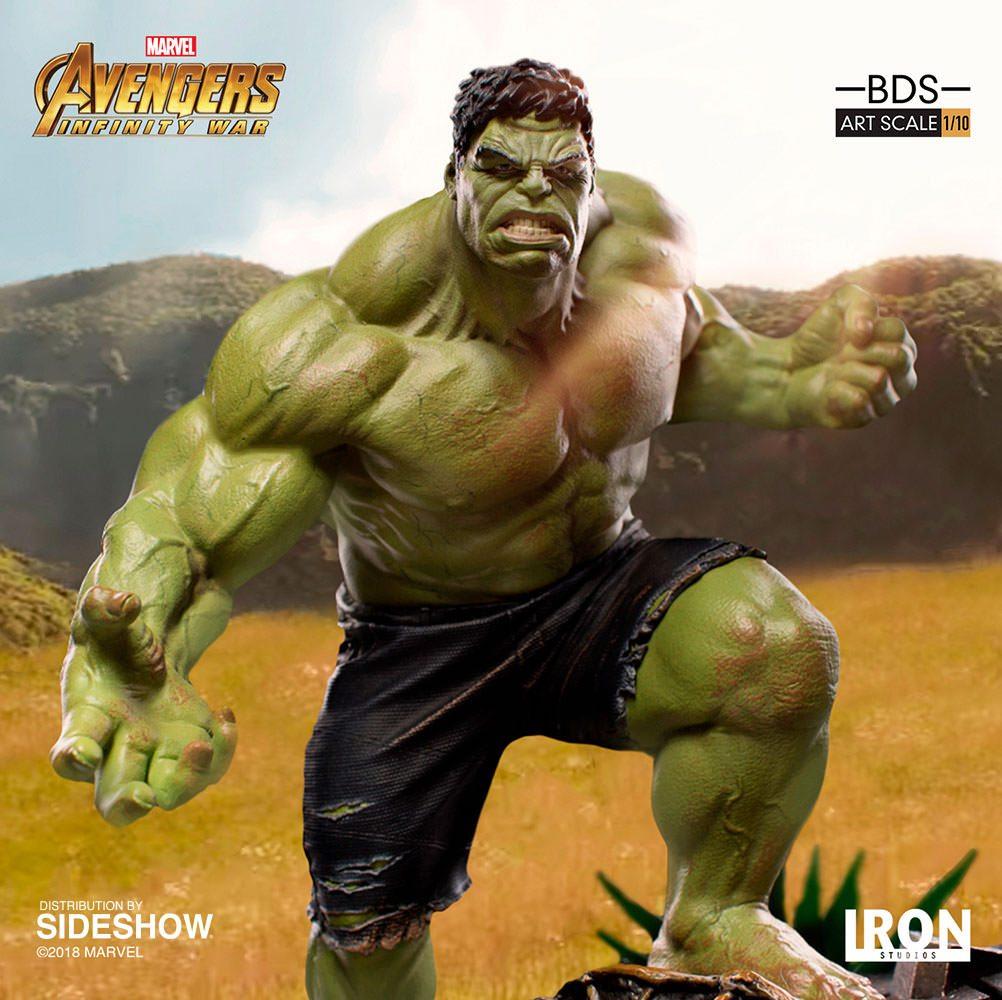 La estatua de los Vengadores de Iron Studios: Infinity War Hulk Battle Diorama Series está disponible para reservar ahora