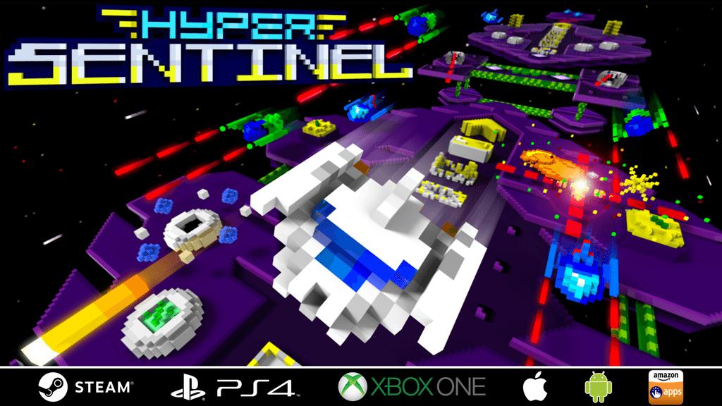 Neo-retro shoot 'em up Hyper Sentinel disponible ahora
