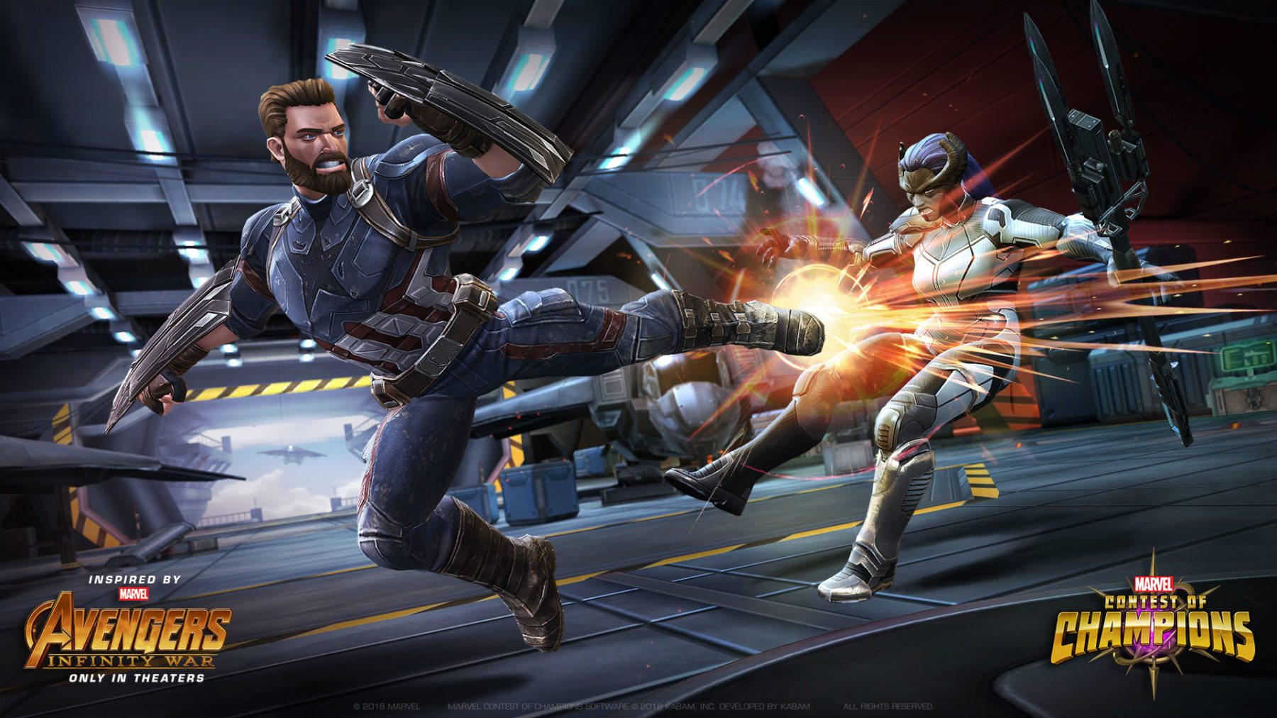 Avengers: Infinity War's Captain America se une a la pelea en Marvel Contest of Champions