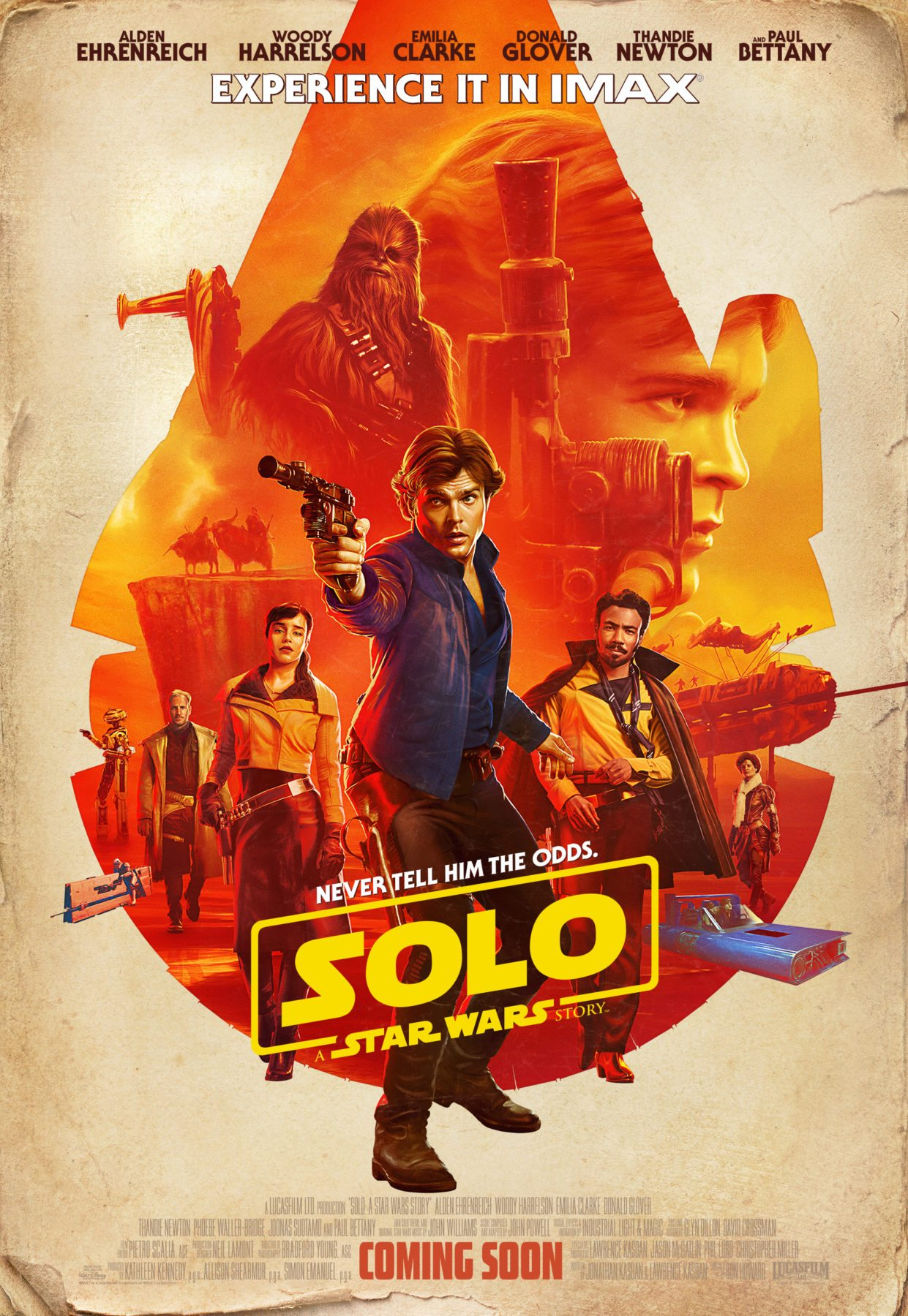 Solo: A Star Wars Story recibe un nuevo póster IMAX a medida que se revela la lista de canciones