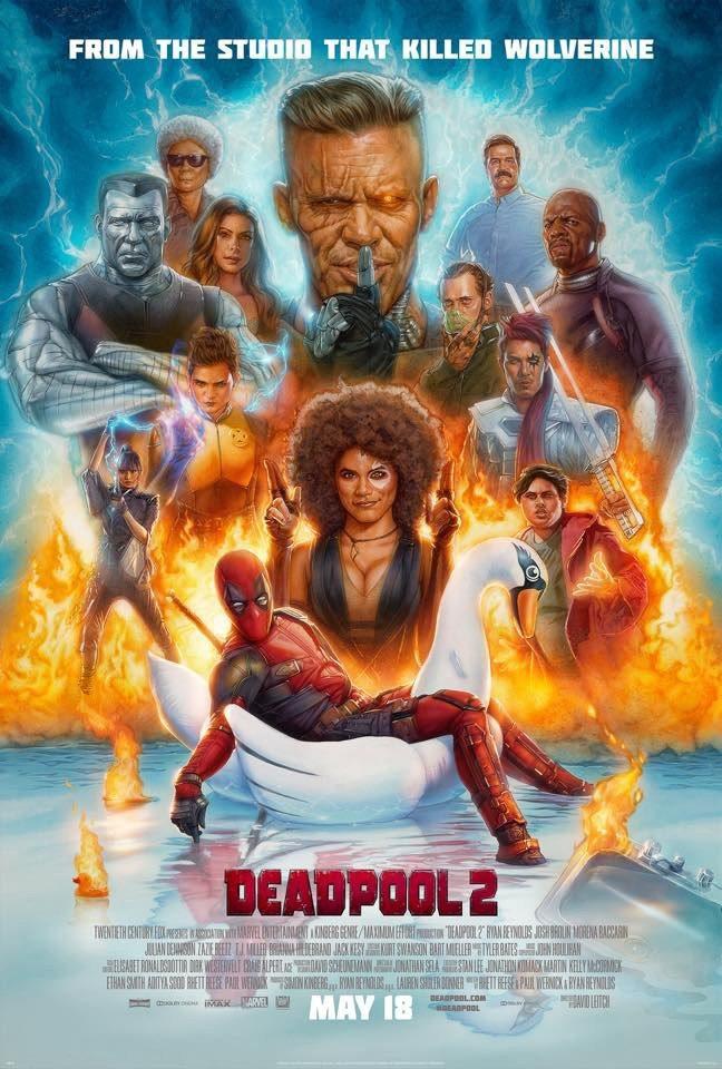 Deadpool 2 obtiene un lote de nuevas imágenes y un póster ilustrado