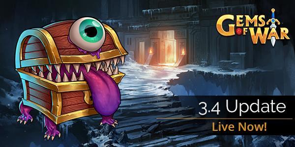 La actualización 3.4 de Gems of War ya está disponible