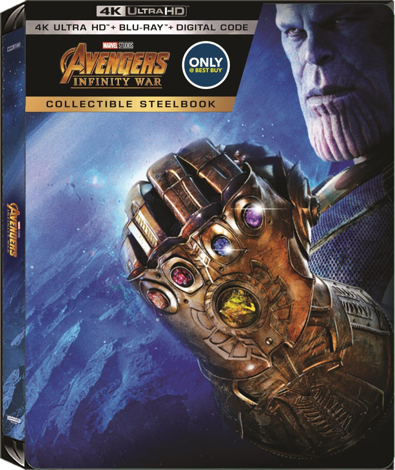 Avengers: Infinity War 4K Ultra HD Steelbook reveló la portada