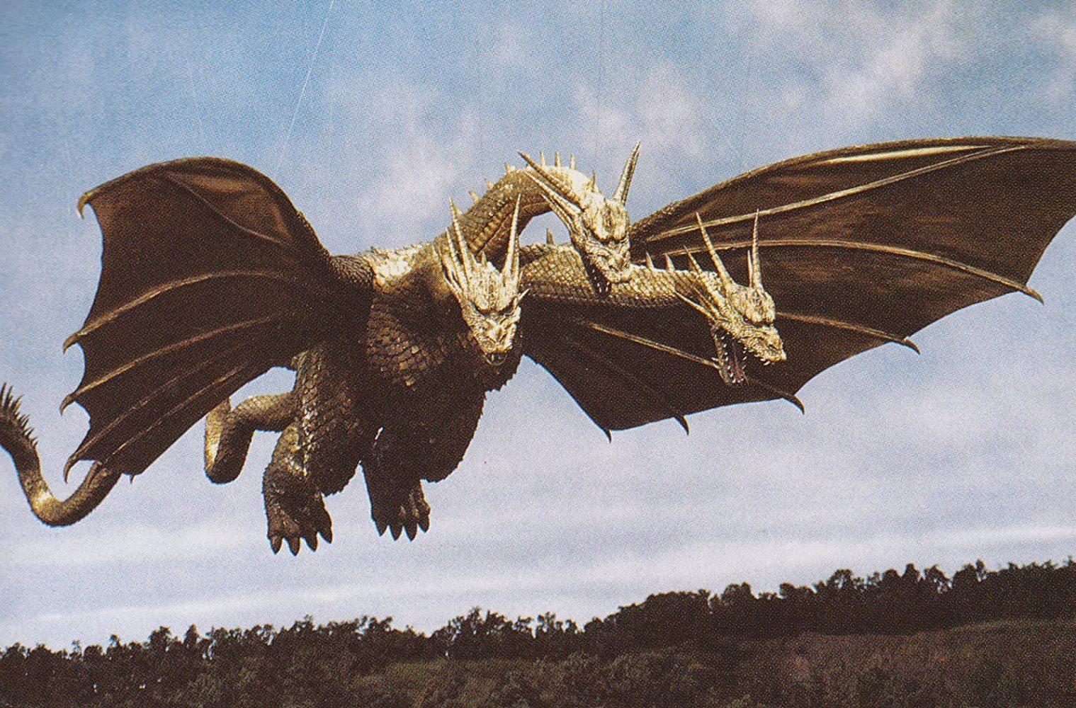 Jason Liles de Rampage interpretando al Rey Ghidorah en Godzilla: King of the Monsters