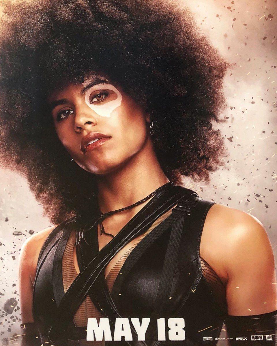 Domino de Zazie Beetz exhibido con nuevo póster de Deadpool 2 y spot de televisión