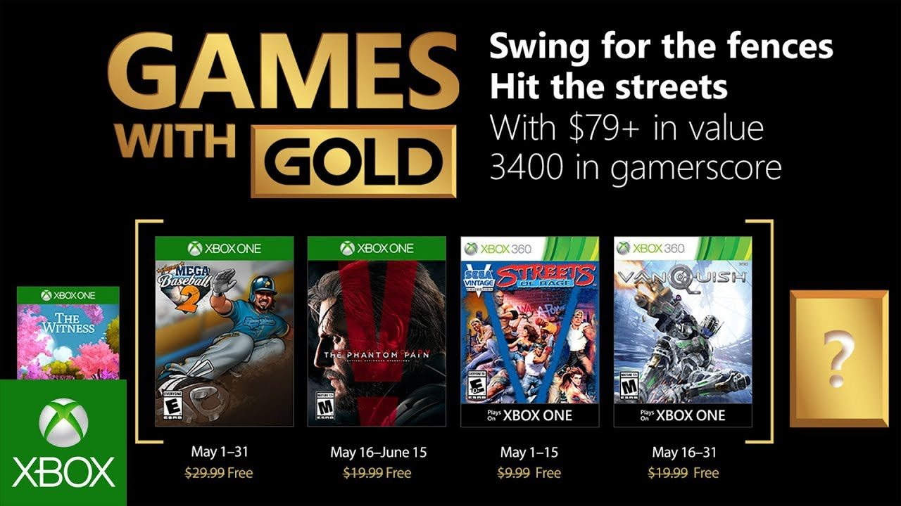 Juegos de Xbox con oro para mayo de 2018 anunciados