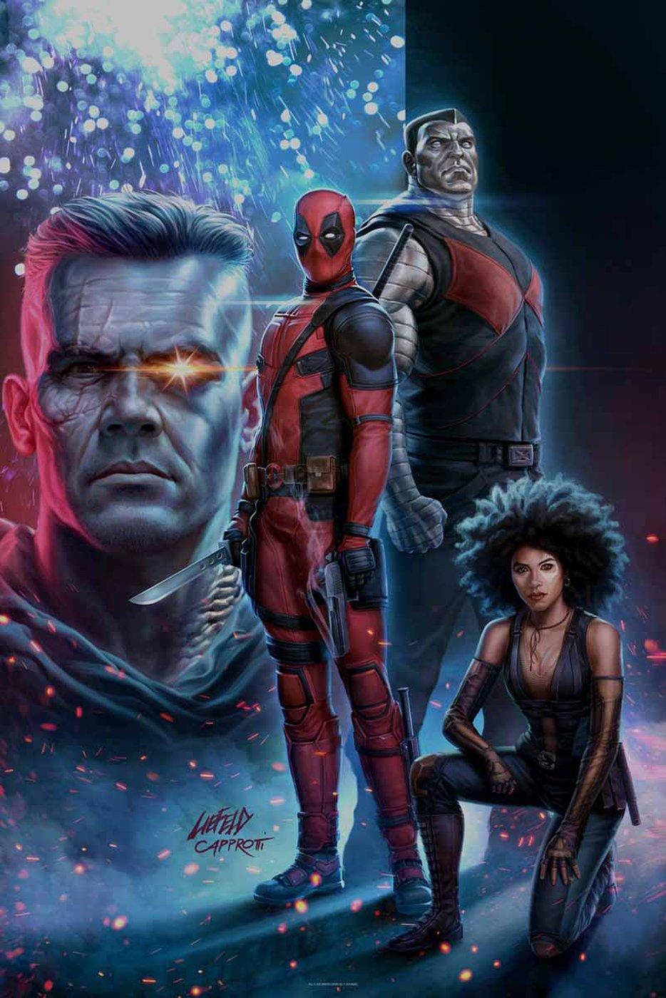 Rob Liefeld recrea una portada de cómic clásica con el póster de Deadpool 2