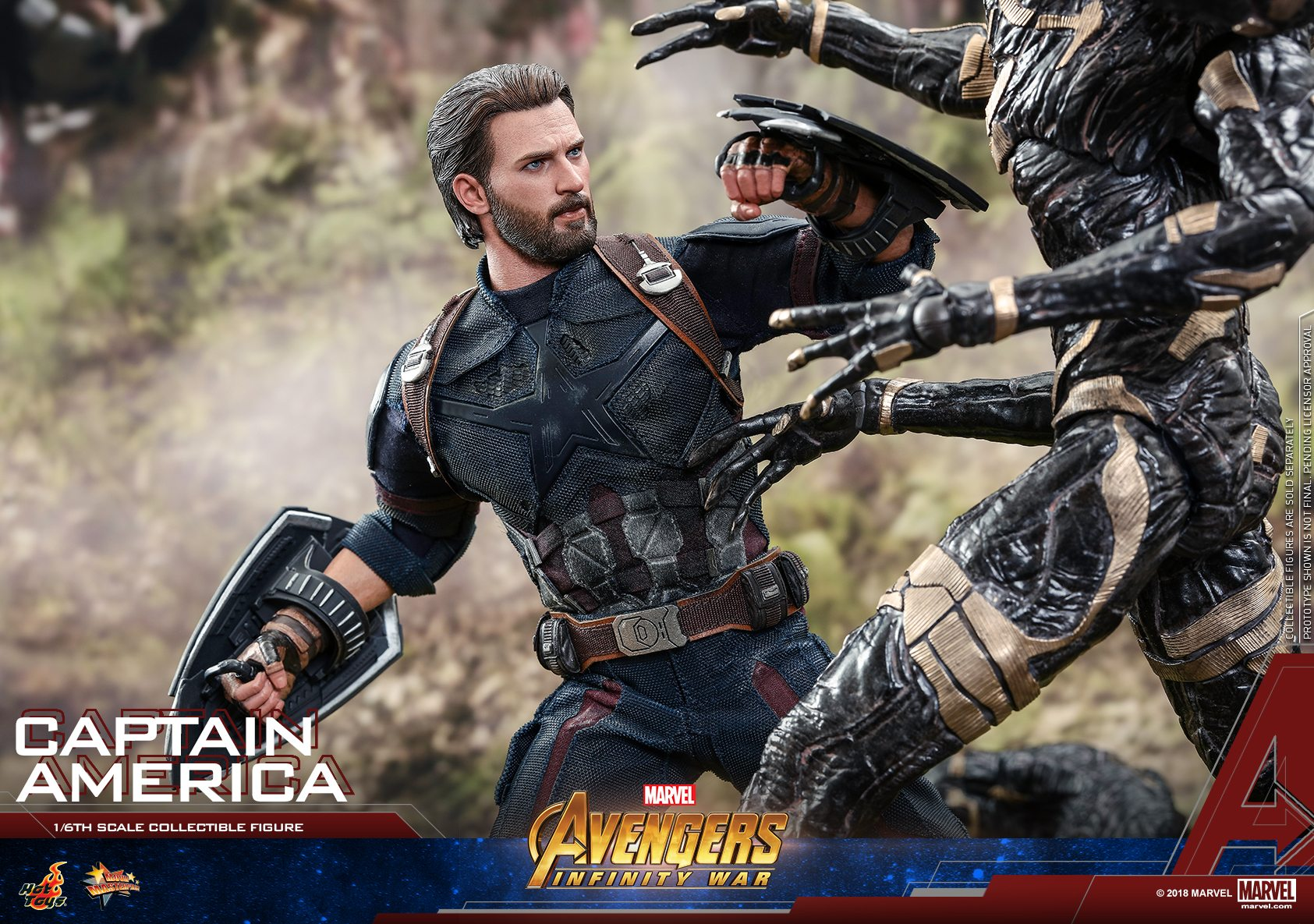 Hot Toys revela su figura de Capitán América Movie Masterpiece de Avengers: Infinity War