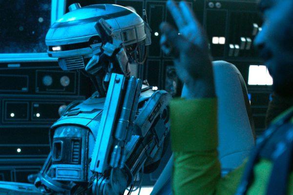 Phoebe Waller-Bridge lució un práctico disfraz L3-37 durante la filmación de Solo: A Star Wars Story