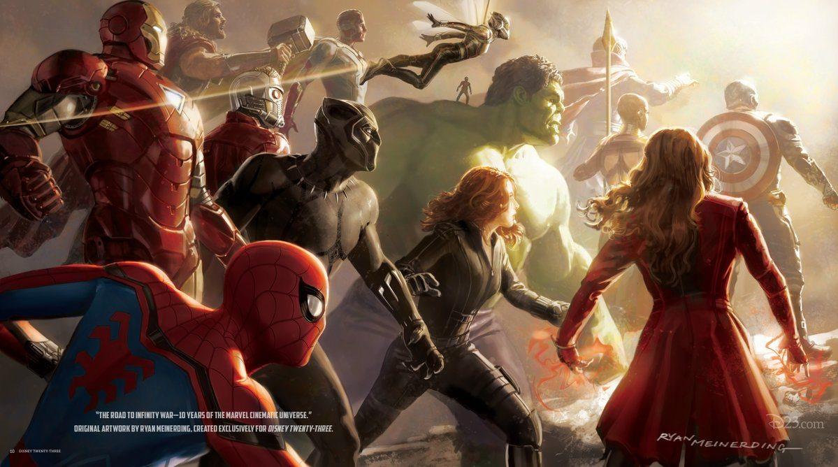El Jefe de Desarrollo Visual de Marvel comparte obras de arte que celebran la Guerra del Camino al Infinito