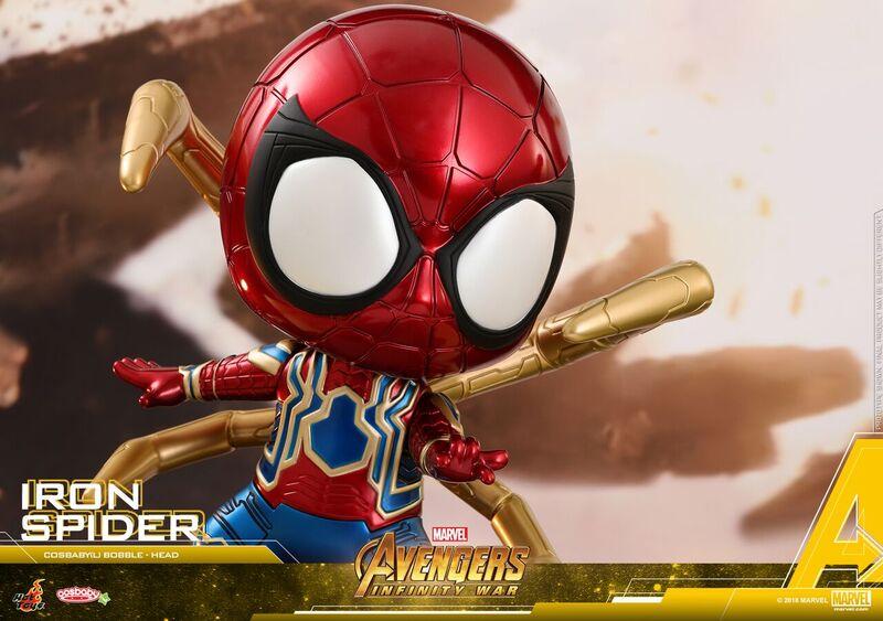 Doctor Strange, Wong, Iron Man y Iron Spider Cosbaby Bobbleheads presentados por Hot Toys