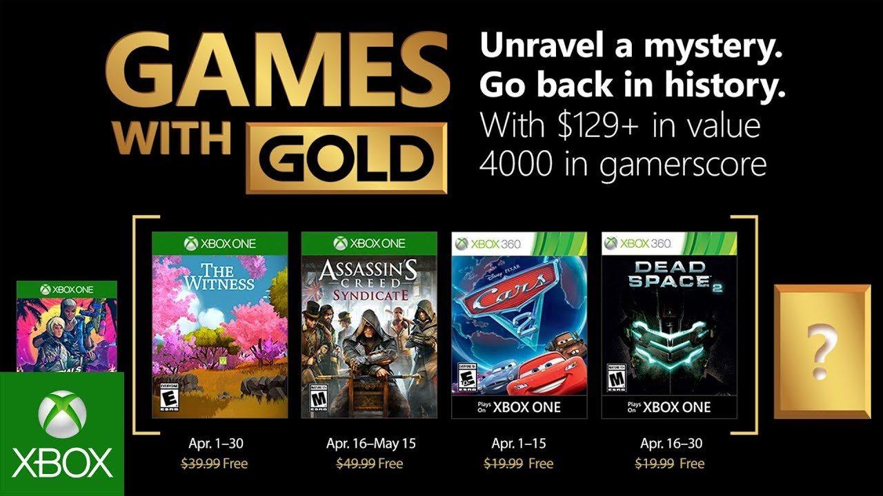 Juegos de Xbox con oro para abril de 2018 revelados