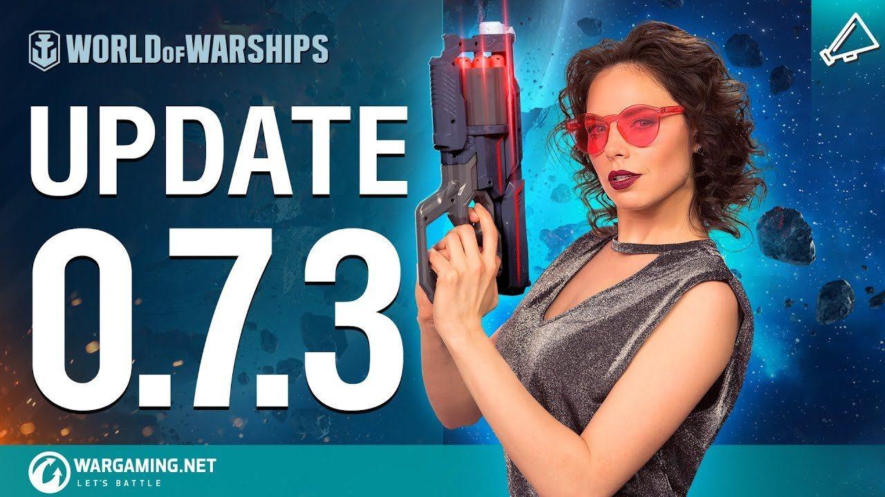 La actualización 0.7.3 para World of Warships nos lleva valientemente al espacio