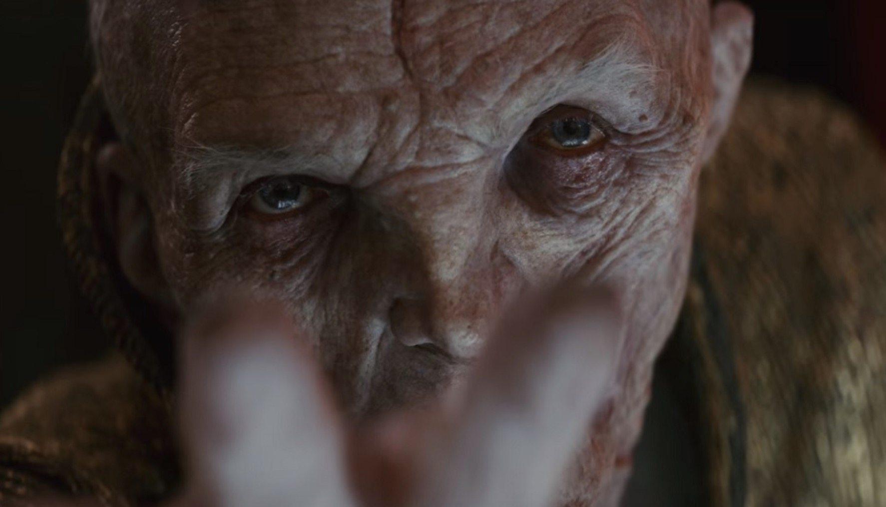 Andy Serkis sobre su reacción al conocer el destino de Snoke en Star Wars: The Last Jedi