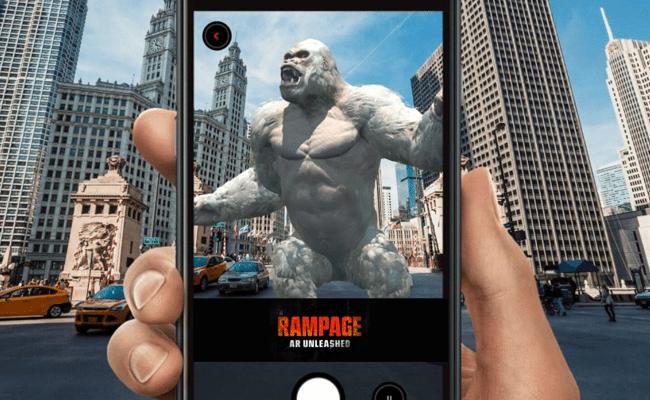 Dé rienda suelta a George, Ralph y Lizzie sobre su ciudad con Rampage: experiencia AR
