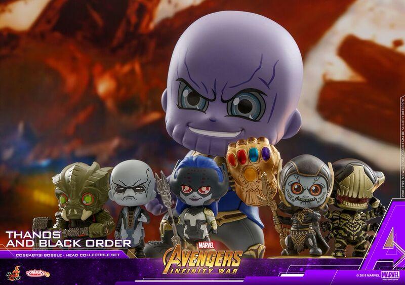 Thanos y The Black Order obtienen una serie de Avengers: Infinity War Cosbaby bobble-heads de Hot Toys