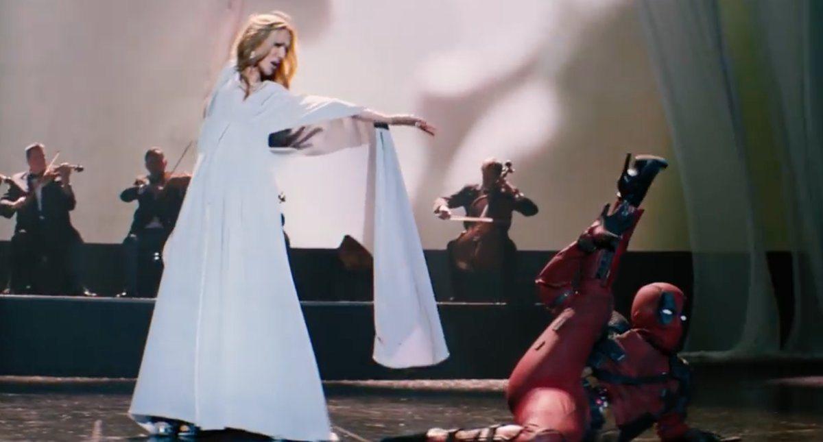 Deadpool lanza doble sentido en el primer clip de Deadpool 2 mientras Wade Wilson es la estrella invitada en el nuevo video musical de Celine Dion